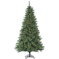 Pre-Lit Canyon Pine Artificial Christmas Tree, 7 1/2'H x 51 inch; Diameter, 500 Clear Lights