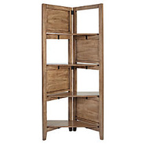 Realspace Peakwood Room Divider, 59 3/5 inch;H x 26 1/2 inch;W x 13 7/32 inch;D, Gray