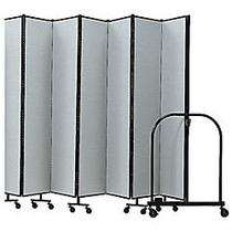 Screenflex Portable Room Partition Divider, 72 inch;H x 157 inch;W, Gray