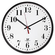 Wall Clock, White Dial Face, Clear Crystal, 12-3/4 inch;, Black