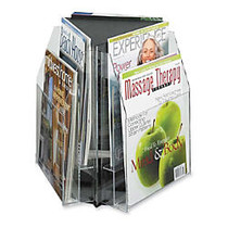 6-Pocket Magazine and Pamphlet Rotating Tabletop Display, Triangular, 12 3/4 inch;H x 15 inch;W