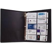 Anglers 3-Ring Business Card Binder - 1000 Capacity - 11 inch; Length x 8.50 inch; Width - 3-ring Binding - 5 Tab(s) - Refillable