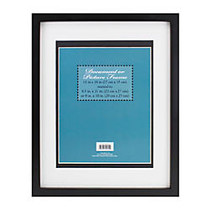 3-in-1 Wood Document And Photo Frame, 11 inch; x 14 inch;, Black