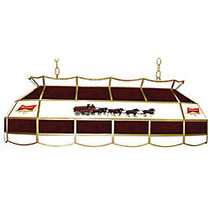 Trademark Global 2-Light Hanging Tiffany Lamp, 15 inch;H, Red Budweiser Clydesdale Shade
