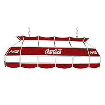 Trademark Global Vintage 3-Light Hanging Tiffany Lamp, 15 inch;H, Red Coca-Cola Shade