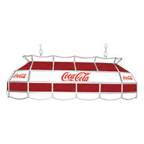 Trademark Global Vintage 3-Light Hanging Tiffany Lamp, 15 inch;H, Red/White Coca-Cola Shade