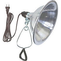 Woods 18/2 SPT-2 6' White Clamp Lamp With 8-1/2 inch; Reflector