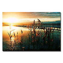 Trademark Global Wish You Were Here Gallery-Wrapped Canvas Print By Beata Czyzowska Young, 22 inch;H x 32 inch;W