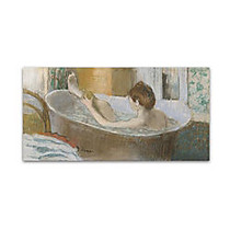 Trademark Global Woman In Her Bath 1883 Gallery-Wrapped Canvas Print By Edgar Degas, 16 inch;H x 32 inch;W
