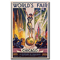 Trademark Global World's Fair Chicago Gallery-Wrapped Canvas Print By Glen Sheffer, 35 inch;H x 47 inch;W