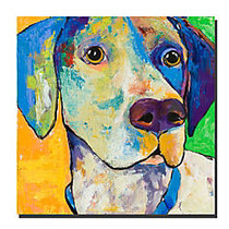 Trademark Global Yancy By Colorful Attitudes Gallery-Wrapped Canvas Print By Pat Saunders-White, 24 inch;H x 24 inch;W