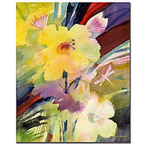 Trademark Global Yellow Dragonfly Gallery-Wrapped Canvas Print By Sheila Golden, 14 inch;H x 19 inch;W