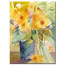 Trademark Global Yellow Gallery-Wrapped Canvas Print By Sheila Golden, 14 inch;H x 19 inch;W