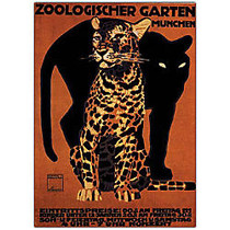Trademark Global Zoologischer Garten Munchin Gallery-Wrapped Canvas Print By Anonymous, 16 inch;H x 24 inch;W