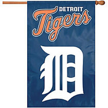 Party Animal Tigers Applique Banner Flag
