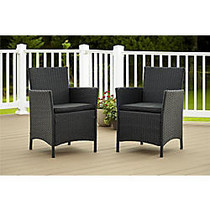 Cosco Jamaica Outdoor Dining Chairs, Black, Set Of 2