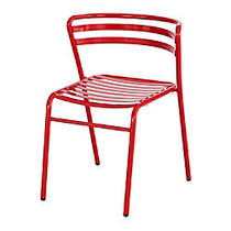 Safco; CoGo™ Indoor/Outdoor Chair, Red, Set Of 2
