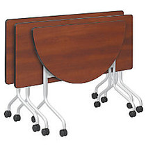 Safco; Impromptu™ Mobile Training Table Top, Half-Round, 48 inch;W x 24 inch;D, Cherry (Base Sold Separately)