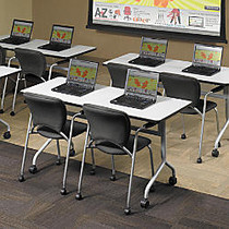 Safco; Impromptu™ Mobile Training Table Top, Rectangular, 60 inch;W x 24 inch;D, Gray (Base Sold Separately)