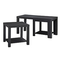 Altra Coffee Table & End Tables, 17 1/2 inch;H x 35 inch;W x 16 3/8 inch;D, Black