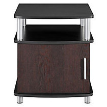 Altra Contemporary End Tables, Square, 20.6 inch;H x 17.6 inch;W x 17.6 inch;D, Cherry/Black