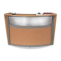 OFM Single-Marque Reception Station, With Plexi, 45 1/2 inch;H x 69 3/5 inch;W x 33 1/2 inch;D, Maple