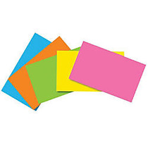 Top Notch Teacher Products; Brite Blank Index Cards, 3 inch; x 5 inch;, Assorted Colors, 100 Cards Per Pack, Case Of 10 Packs