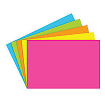 Top Notch Teacher Products; Brite Blank Index Cards, 4 inch; x 6 inch;, Assorted Colors, 100 Cards Per Pack, Case Of 6 Packs