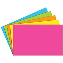 Top Notch Teacher Products; Brite Blank Index Cards, 5 inch; x 8 inch;, Assorted Colors, 100 Cards Per Pack, Case Of 5 Packs