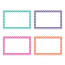 Top Notch Teacher Products; Chevron Border Index Cards, 4 inch; x 6 inch;, Assorted Colors, 75 Cards Per Pack, Case Of 6 Packs