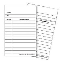 Top Notch Teacher Products; Library Cards, 5 inch; x 3 inch;, White/Black, 50 Cards Per Pack, Case Of 10 Packs