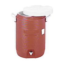 Rubbermaid; Insulated Beverage Container/Water Cooler, 5 Gallons, Orange