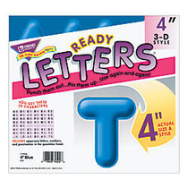Trend; 3-D Ready Letters;, 4 inch;, Assorted Colors