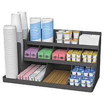 Mind Reader Extra-Large Coffee Condiment And Accessory Organizer, 12 1/2 inch;H x 24 inch;W x 11 7/8 inch;D, Black