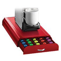 Mind Reader Nespresso; Coffee Capsule Drawer, 50-Pod Capacity, Red