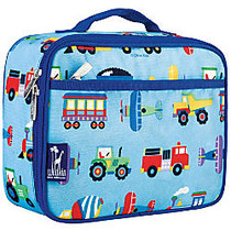 Wildkin Polyester Lunch Box, 9 3/4 inch;H x 7 inch;W x 3 1/4 inch;D, Trains, Plains And Trucks By Olive Kids