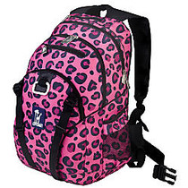 Wildkin Serious Backpack With 15 inch; Laptop Pocket, Pink Leopard