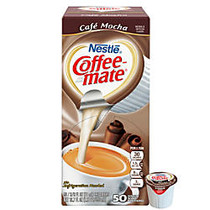 Nestle Coffee-Mate; Liquid Creamer Singles, 0.38 Oz, Cafe Mocha, Box Of 50