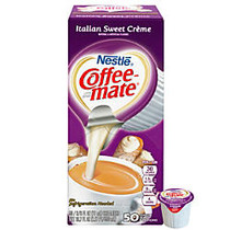 Nestle Coffee-mate; Liquid Creamer Singles, Italian Sweet Creme, 0.38 Oz, Box Of 50