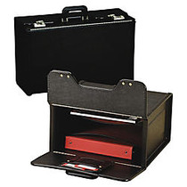 Stebco Vinyl Upright Catalog Case With Steel Padded Handle, 13 1/2 inch;H x 18 1/4 inch;W x 8 3/4 inch;D, Black