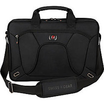 SwissGear; APPLICATION Laptop Slimcase With 16 inch; Laptop Pocket And Tablet/eReader Pocket, Black