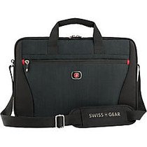 SwissGear; Structure Slimcase Tote For 16 inch; Laptops, Black/Blue Heather