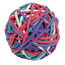 Office Wagon; Brand 1 Lb Rubber Band Ball, Assorted Colors