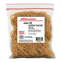 Office Wagon; Brand Rubber Bands, #19, 3 1/2 inch; x 1/16 inch;, 1/4 Lb. Bag