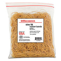Office Wagon; Brand Rubber Bands, #19, 3 1/2 inch; x 1/16 inch;, Crepe, 1-Lb Bag