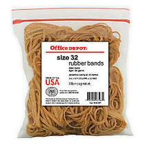 Office Wagon; Brand Rubber Bands, #32, 3 inch; x 1/8 inch;, 1/4 Lb. Bag