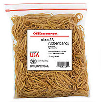 Office Wagon; Brand Rubber Bands, #33, 3 1/2 inch; x 1/8 inch;, Crepe, 1-Lb Bag