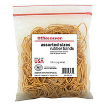 Office Wagon; Brand Rubber Bands, #54, Assorted Sizes, 1/4 Lb. Bag