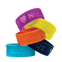One Direction Limited Edition 1D + OD Together Silicone Wristbands, Niall - Confident, Purple
