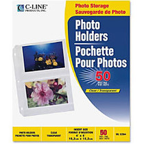 Photo Holders For Three-Ring Binders, 4 inch; x 6 inch;, Box Of 50